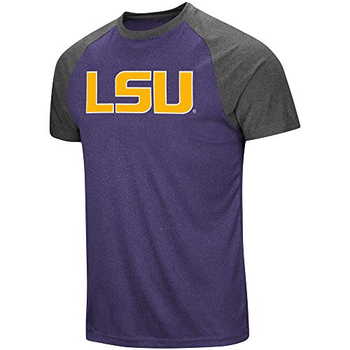 Colosseum LSU Tigers Men's The Heat Short-Sleeve T-shirt X-Large