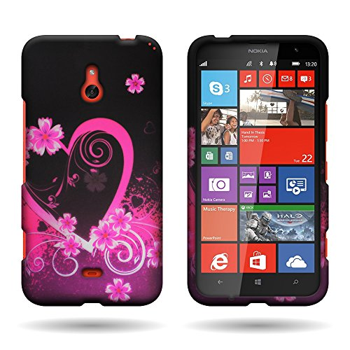 For Nokia Lumia 1320 Design Hard Case Cover Premium Protector with Tool - Retail Packaging - Purple Love