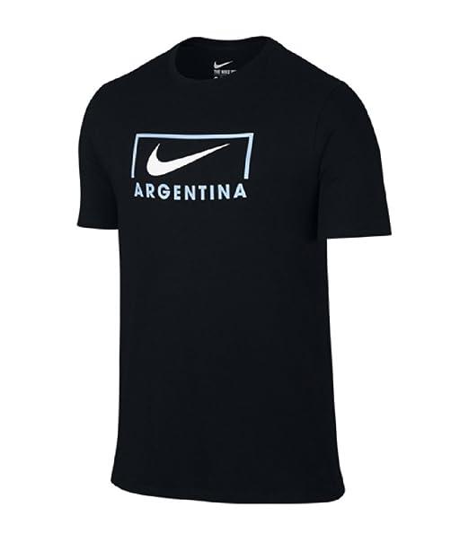 Nike hombre EC16 Copa Argentina Mundial de Fútbol de Nike camiseta de fútbol negro: Amazon.es: Ropa y accesorios
