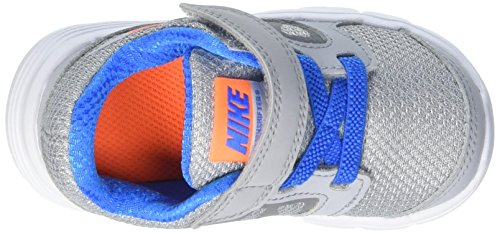 Nike Downshifter 6 (TD) - Zapatillas infantil, multicolor Gris (Wlf Gry / Ttl Orng Pht Bl Cl Gry)