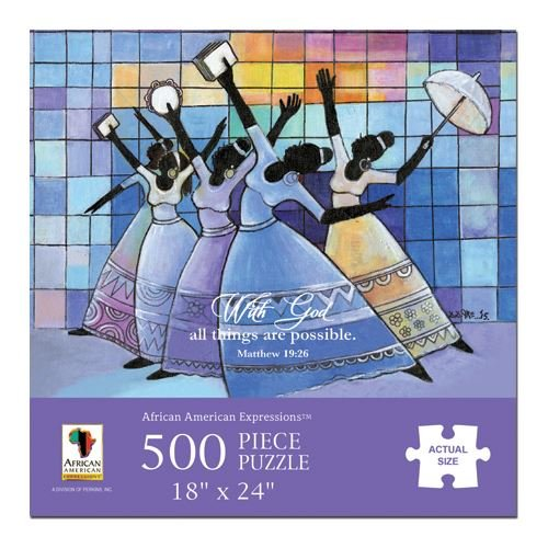African American Expressions - with God Ladies Puzzle (500 Pieces, 18' x 24