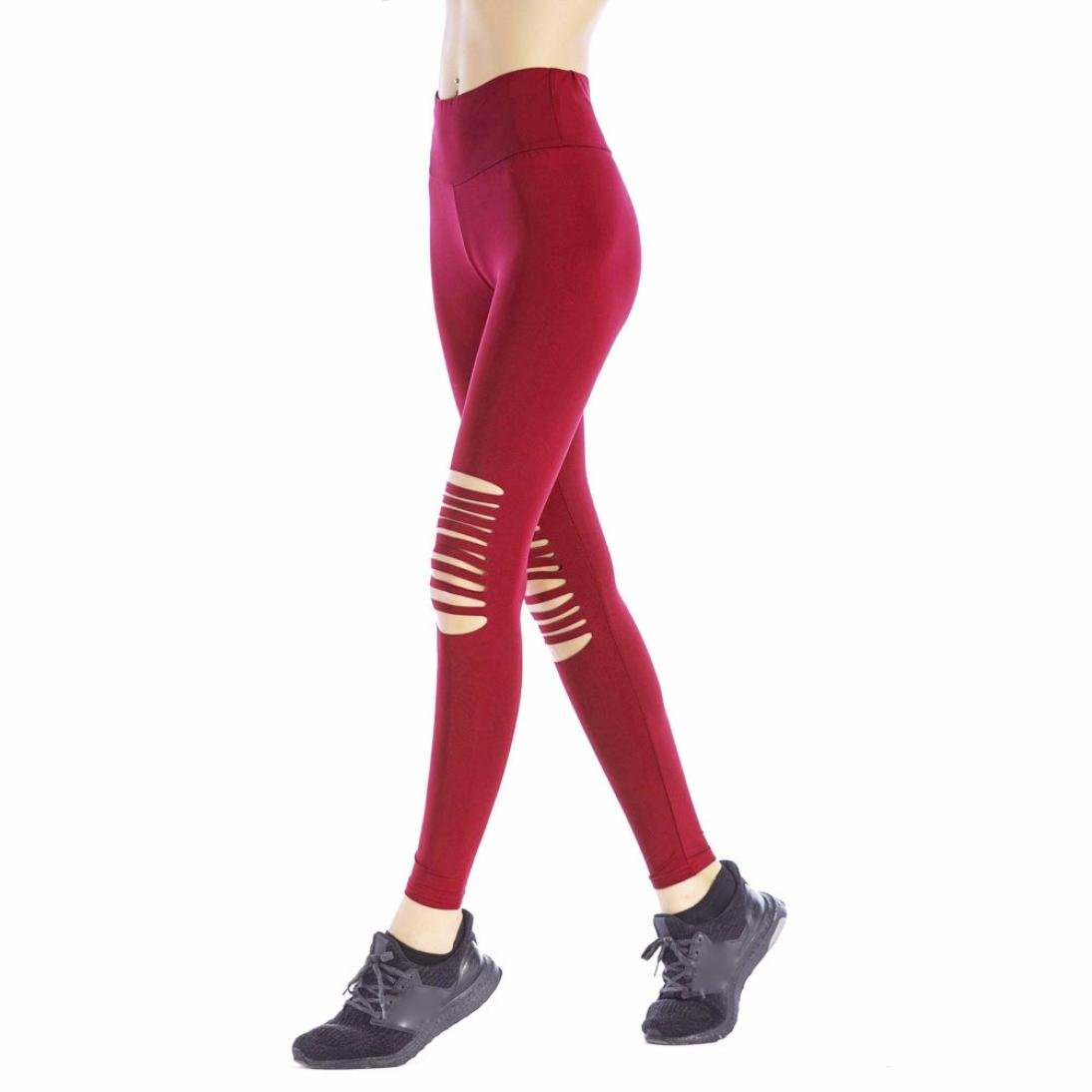 Pantalones Yoga Mujeres, Xinantime Leotardos Huecos para ...