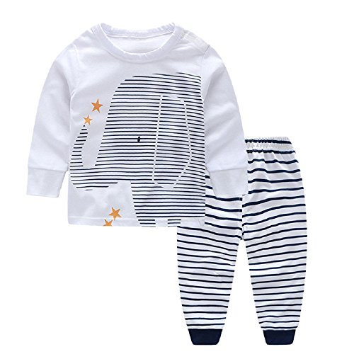 Yilaku Newborn Baby Boy Clothes Sets Toddler Boys Autumn Outfits 2017 Winter Infant Clothing Elephant Print 6-12 Months -