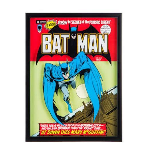 Batman Comic Framed Wall Art Home Decoration Theater Media Room Man ()