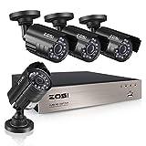 ZOSI Security CCTV System 8CH H.264 DVR 4X HD 800TVL 1/3'' CMOS IR