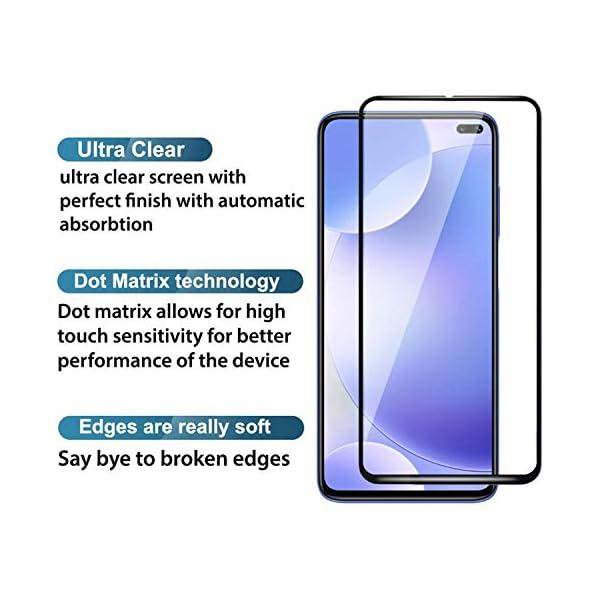 Tempered Glass for Xiaomi Redmi Note 9 Pro/ Poco X2 (Black) Edge to Edge