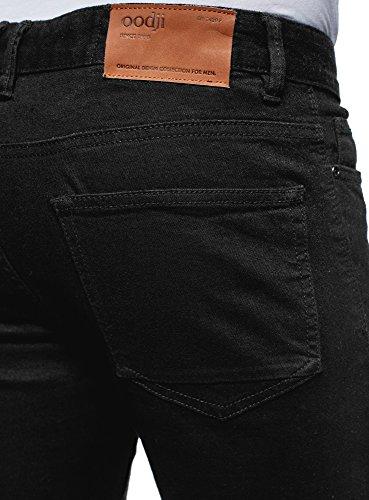 Stile Nero2900w Fit Jeans Oodji Ultra Biker In Uomo Slim Nnvwm80O