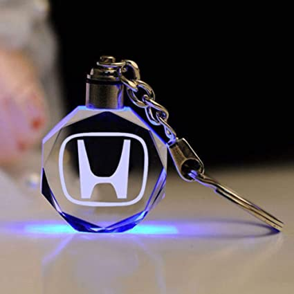 Fitracker LED Car Keychain Crystal Light Changing Car Key Chain Keyring Accessories for Mercedes Benz VW BMW Audi Toyota Jeep Ford Mini