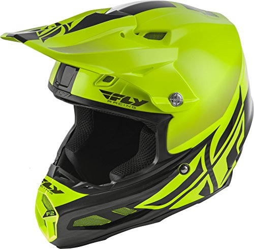 FLY RACING F2 CARBON MIPS SHIELD HELMET HI-VIS/BLACK (Vis Racing Carbon Fiber)