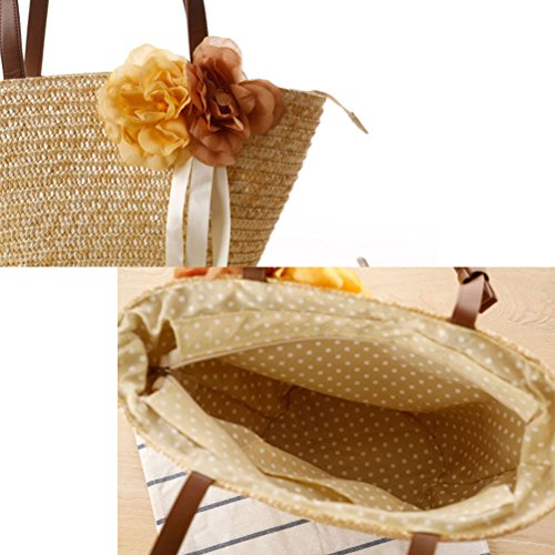 Fashion Color Solid ventes Hot Zhuhaitf Womens High Green Army Beach Flowers Quality for Laides Style Woven Wrapped Handbags Bags ZqXRWRax