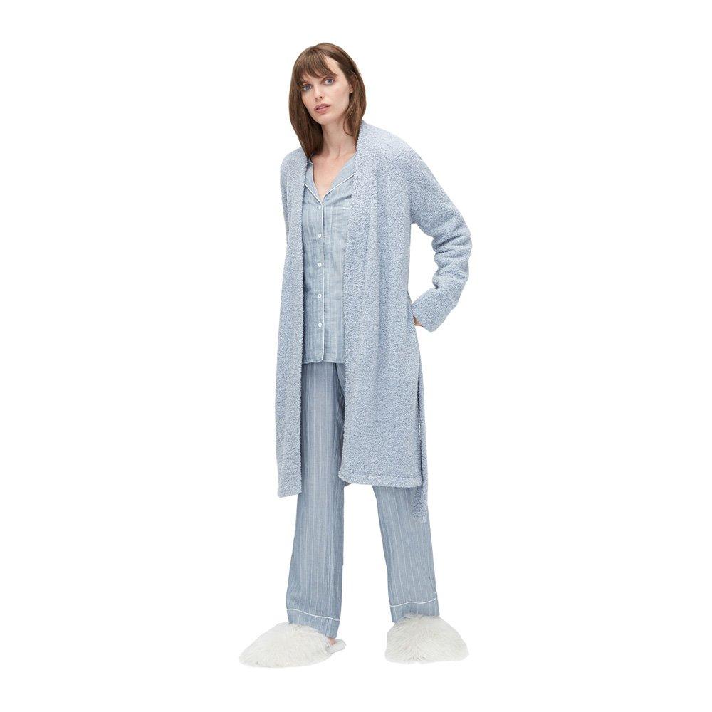UGG Ana Sweater Plush Knit Robe, M, Icelandic Blue