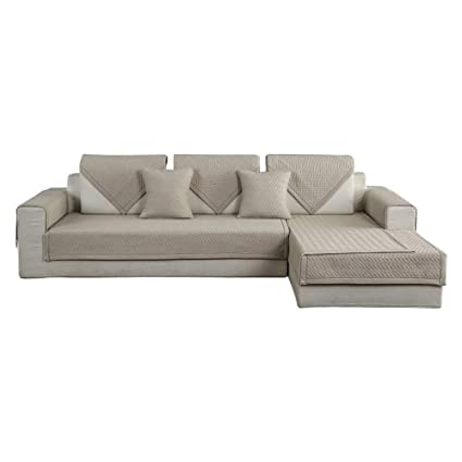 Amazon.com: HOTNIU 1 Piece Non-Slip Quilted Sectional Sofa Slipcover ...