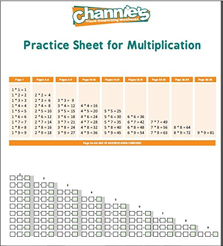 Channie's One Page A Day Single Digit (Beginner) Multiplication Practice Workbook for 2nd-3rd Grades Photo #3