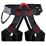 Shxmlf Safety Climbing Harness——Perfect Starter Harness For Gyms Rock Climbing , Expanding Training, Fire Rescue, Caving Descending, Rappelling Equipment, Women Man Child Half Body Guide Harness
