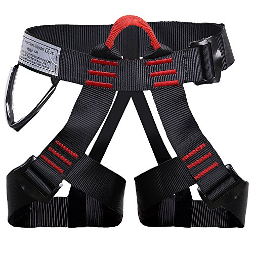 Shxmlf Safety Climbing Harness Perfect Starter Harness For High Level Work Descending Rappelling Expand Training Caving Rock Climbing Harness, Woman Man Child Half Body Guide Harness