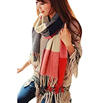 Natural Feelings Elegant Feminine Soft Solid Color Cotton Women Scarf Wrap Winter