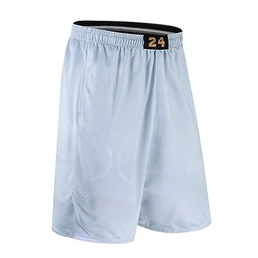 LHKJB Pantalones Cortos de Baloncesto 24 Mamba Negro Sueltos, de ...