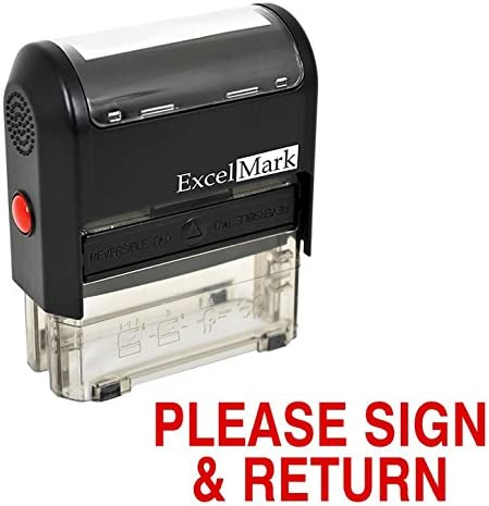 PLEASE RETURN Inking Rubber Stamp