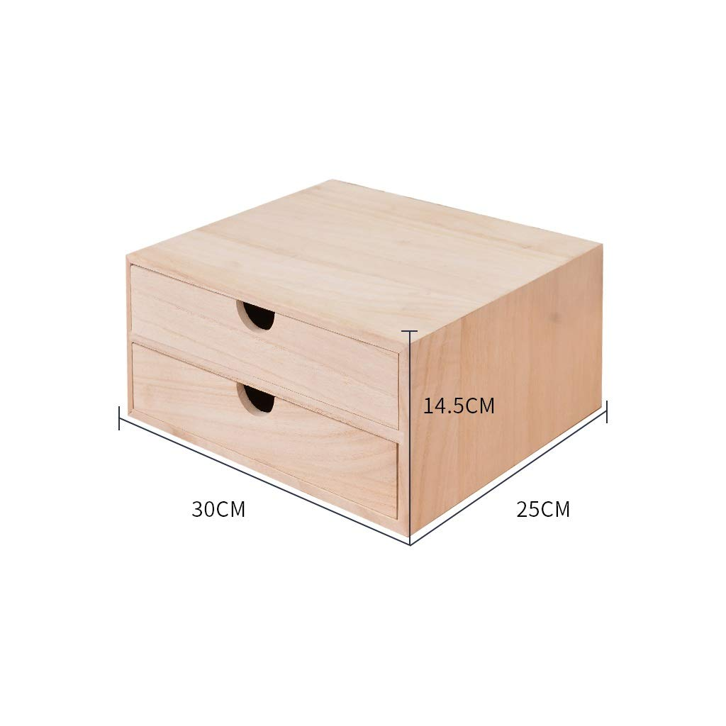 A4 Desktop File Cabinet Data Cabinet Drawer File Storage Cabinet File Box Office Supplies Portable and Tidy Storage Box-Wooden (Color : 30X25X14.5CM) by QSJY File Cabinets