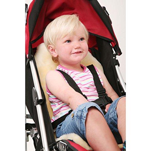 Natural Universal Fit Minidoka Sheepskin Soft Pure Lambskin Stroller Liner