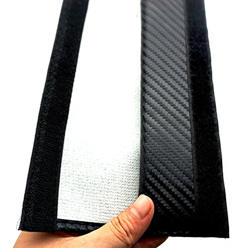 Firemans Pair New Carbon Fiber Seat Belt Cover Shoulder Pad Cushion For Benz C CL CLS CLK S SLK SLS E M G GL GLK Class 3D AMG Black Benz Logo