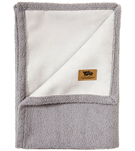 (West Paw Big Sky Dog Blanket and Throw, Faux Suede/Silky Soft Fleece Pet Throw Blanket for Couch, Furniture Chair and Bed, Smoke, Small)
