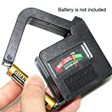 Paylow - Mini Battery Tester Suitable for AAA, AA, C, D, PP3 and 3R12 Size Batteries