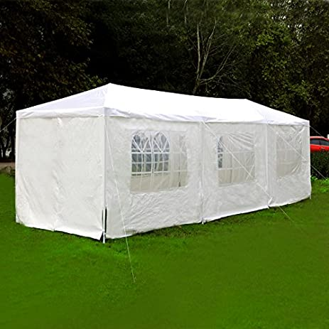 Exacme 6053-1030W Canopy Party Outdoor Gazebo Wedding Tent 8 Removable Walls 10u0027 & Amazon.com: Exacme 6053-1030W Canopy Party Outdoor Gazebo Wedding ...