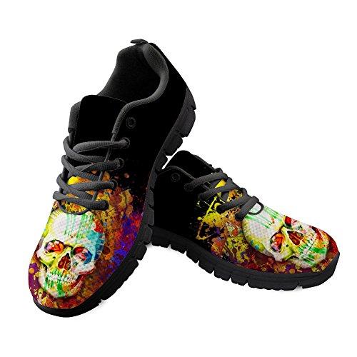 HUGS IDEA Shoes Lightweight Sport Lightweight 8 Running Pattern Trainers Skull Skull Walking TrwqpdT