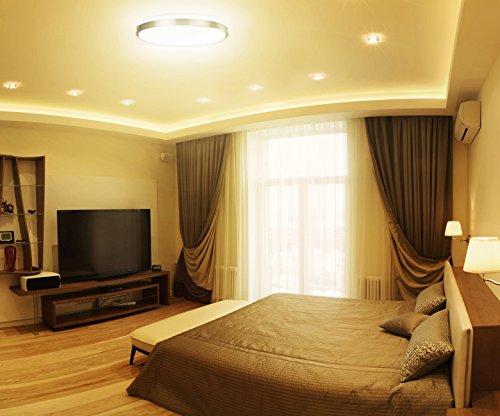 Shine hai led flush mount ceiling light 15 inch 22w 160w for Living room 2700k or 3000k