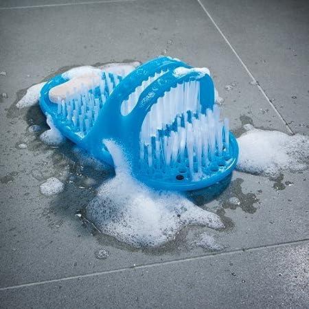 Genuine JML Shower Feet Foot Cleaner Scrubber Washer Bath Brush (BLUE)