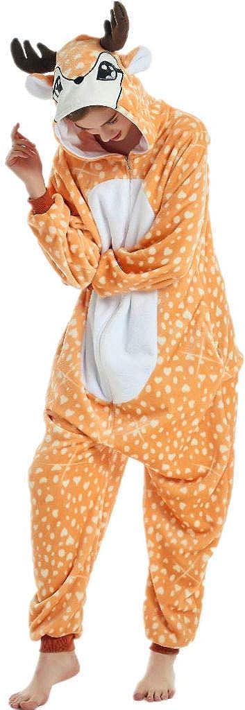 iSZEYU Adult Onesie for Women Halloween Costumes Men Teens Girls Animal Pajamas