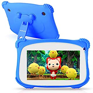 """Kids Tablet, ASIUR QuadCore 2GB RAM 16GB ROM Android 9.0 Kids Educational Learning Tablets for Toddlers with Parental Control & 7"""" HD Screen"""