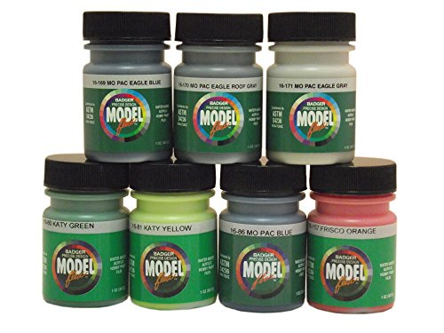 Badger Modelflex Airbrush Paint-Midwest Railroads Set #1