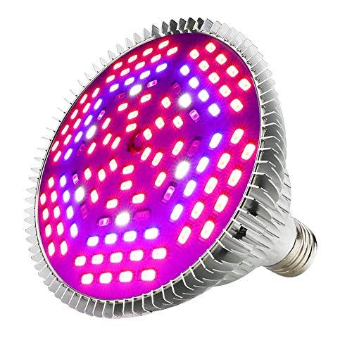 LED Grow Light Bulb 100W Led Full Spectrum,IR UV Plant Light Bulb LED Grow Lights for Indoor Plants Veg Flower Hydroponics Vegetables Seedlings and Greenhouse with E26 / E27 Energy Saving(120LEDS)
