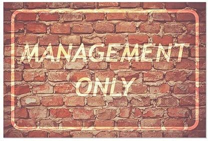 18x12 5-Pack Management Only CGSignLab Ghost Aged Brick Window Cling