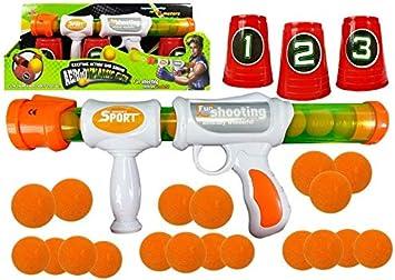 Juguete de Jardin, Pistola de Bolas de Suaves, Pistola de Juguete de Bolas de Espuma para Niños: Amazon.es: Juguetes y juegos