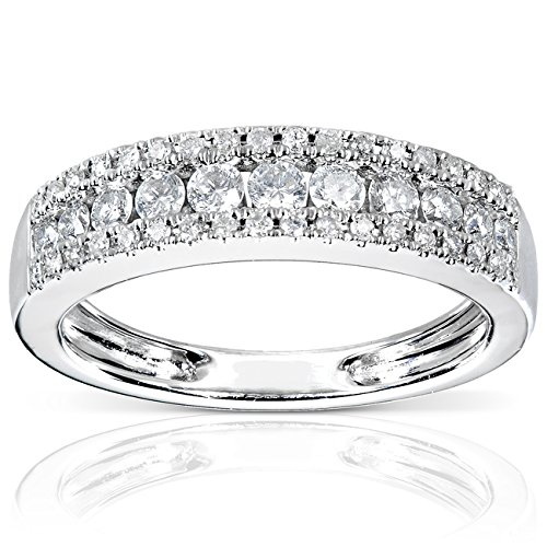 Diamond Wedding Band 1/2 carat (ctw) in 14K White Gold