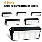 Cheap Solar Powered Outdoor Step Lights, Wireless Security Welcome Stair Lighting for Deck, Fence, Pathway, Porch by Roadwi (6 Pack)