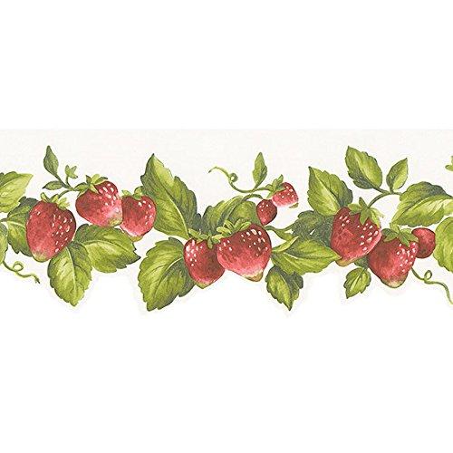 Norwall FK72635DC Strawberries Wallpaper Border
