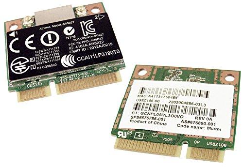 Hp 676786-001 Atheros Ar9462 Ar5b22 802.11a/b/g/n 300m Bluetooth 4.0 Combination Adapter Mini Pcie Card
