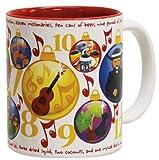 Hawaii Coffee Mugs 2 Pack Hawaiian 12 Days of Christmas White