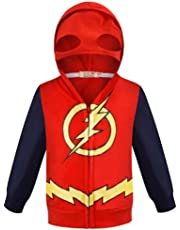Toddler Boys Hoodies Jacket Superhero Zipper Spring Coat for Kids 1-7 Years