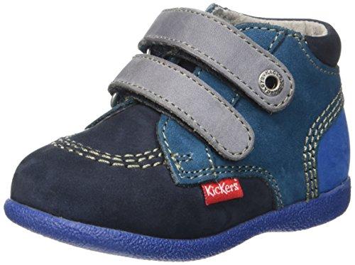 Kickers Babyscratch - Zapatos de primeros pasos Bebé-Niñas Azul (Marine/Bleu)