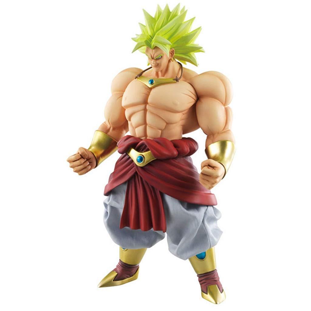 Anime Cartoon Super Saiyan Personaje del Juego Broly Modelo Estatua Alta 25cm Decoraci/ón De Juguete ZHJDD