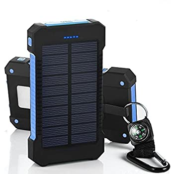 Amazon Com Imeshbean Solar Charger Battery Portable