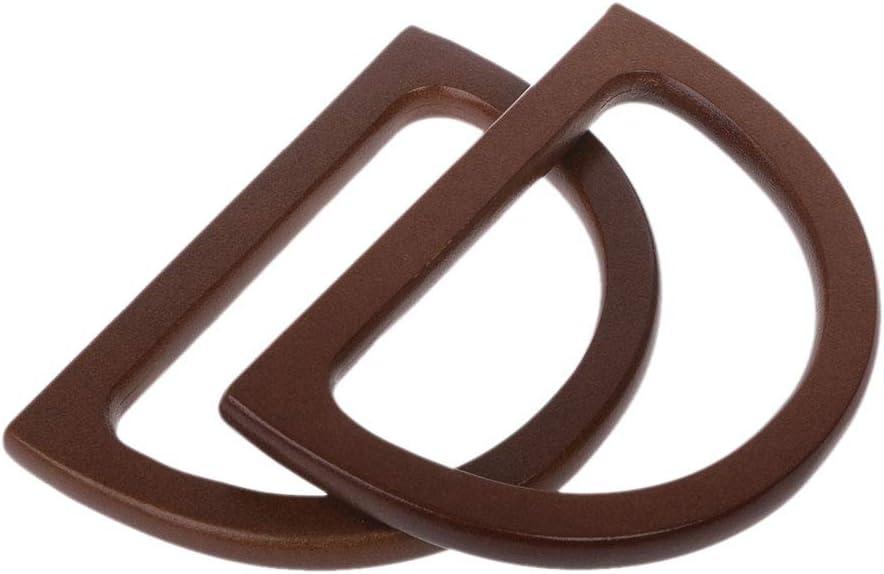 JAGETRADE Wooden Handle Replacement DIY Handbag Purse Frame Bag Accessories