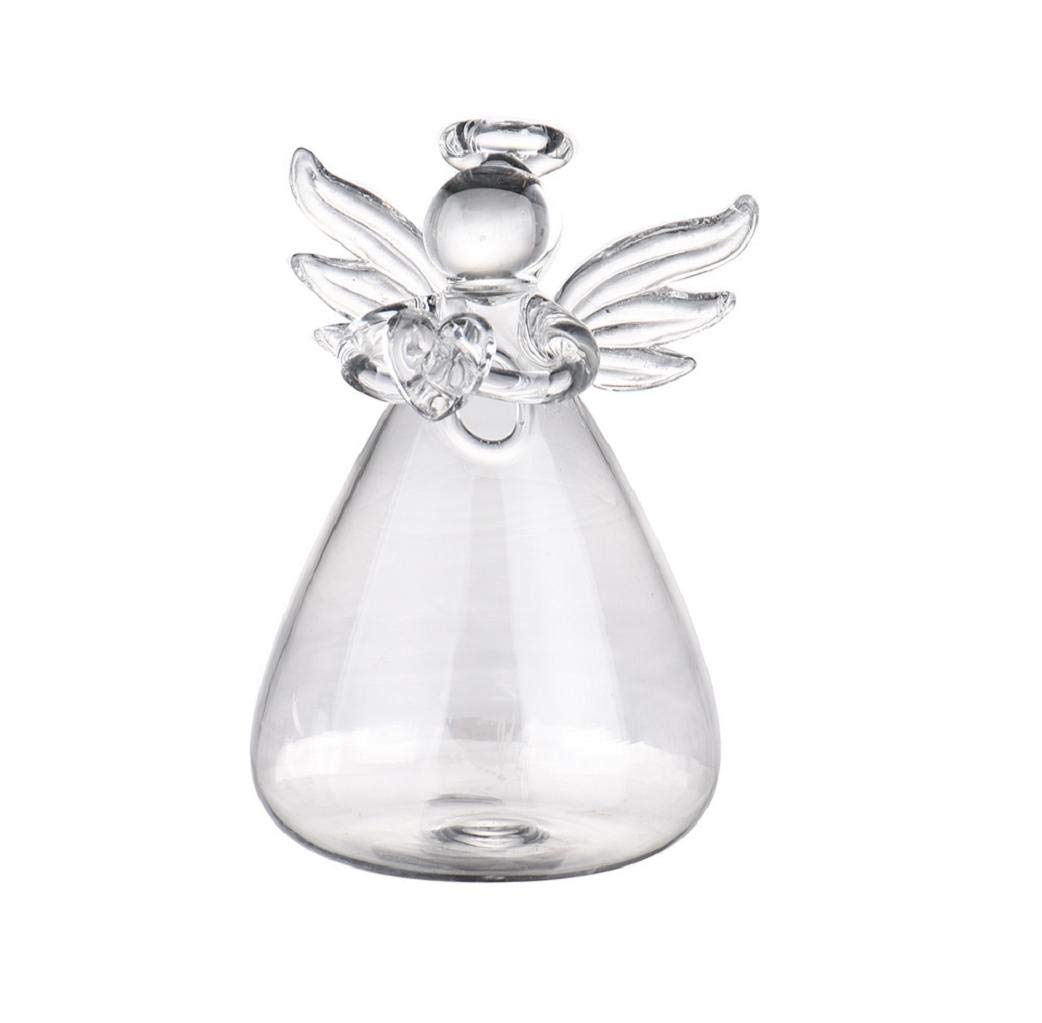 Huphoon Creative Flower Arrangement Home Hydroponic Container Angel Glass Vase Bedroom Living Room Decoration Practical Present fine thermostability High Borosilicate Glass