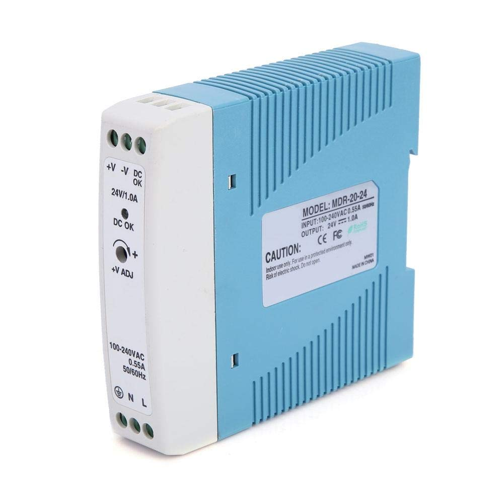 MDINR-60-24 Fuente de alimentaci/ón industrial para gu/ías DIN 60 W 24 V CC 2,5 A conmutador Ethernet industrial sistemas de control industrial hub USB industrial y m/áquina CNC CA//CC para PLC