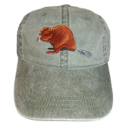 ECO Wear Embroidered Beaver Wildlife Baseball Cap - Wildlife Beaver